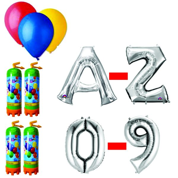 20 Pachet baloane argintii eveniment