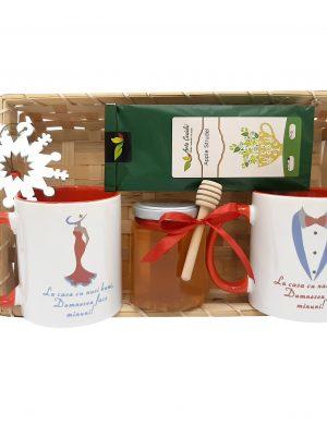 Set cadou pentru Nasi, 6 piese in tavita de deptunghiulara cu mesaj pentru Nasi – ILIF011