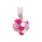 Lumanare botez 35cm, Minnie Mouse flori de sapun, ARBC1414