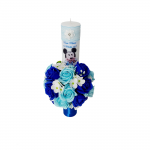Lumanare botez 35 cm,  Mickey Mouse ornata cu flori de sapun, ARBC1412