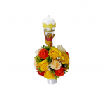 Lumanare botez Winnie the pooh flori de sapun, ARBC149