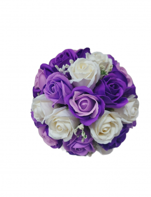Buchet trandafiri de sapun cu mov inchis si mov deschis, ARBC141
