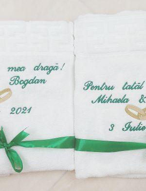 Set prosoape Parinti miri, personalizate prin broderie cu mesaj, ARBC1913