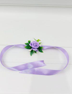 Bratara trandafiri spuma mov, pentru domnisoare de onoare/invitati, ARBC11011