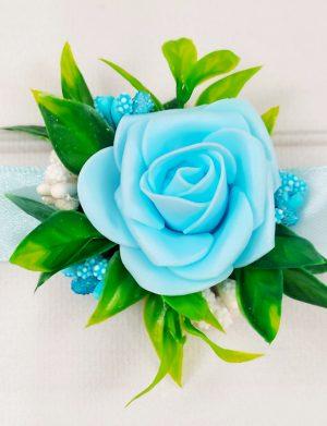 Bratara trandafiri spuma bleo, pentru domnisoare de onoare/invitati, ARBC11010