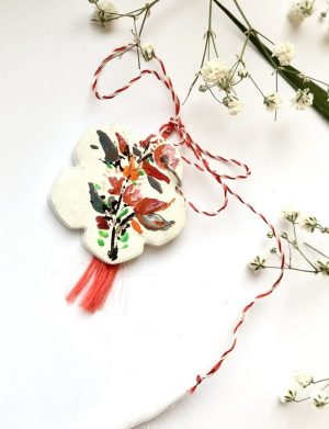 "Martisor Pictat Manual ""Floare Salbatica"", AHGL12775"
