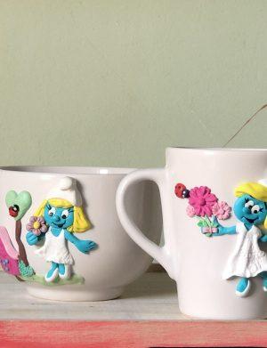 """Set fimo (cana si accesorii) """"Strumfita"""", decorata manual, AHGL13226"""