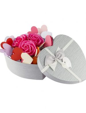 30 Motive, mesaje-inima, trandafiri de sapun, diverse modele, cadou iubit(a), multicolor
