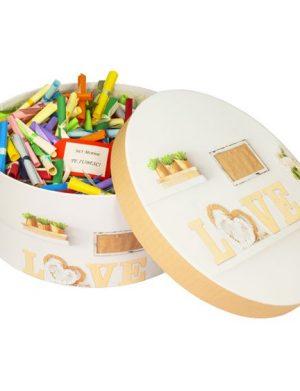 365 Motive Te Iubesc, mesaje-sul, cutii sub diverse forme, cadou iubit(a), multicolor
