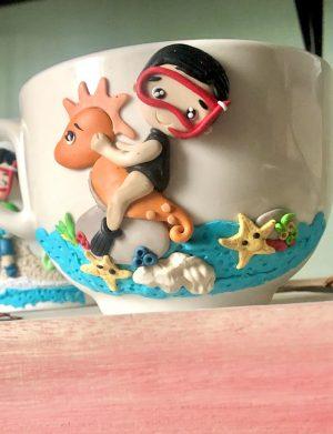 """Set fimo (cana si accesorii) """"BeachDay"""", decorata manual, AHGL13231"""