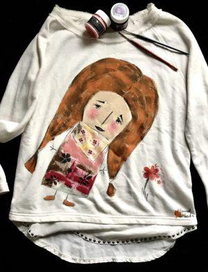 """Bluza """"Fata cu floare"""", AHGL1233"""