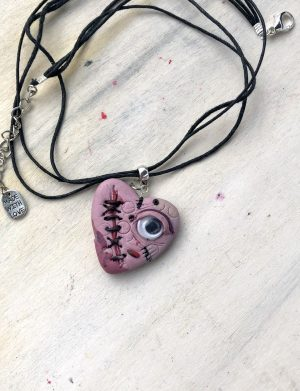 "Set Pandantiv+Cercei Handmade ""EyeH"", AHGL13306"