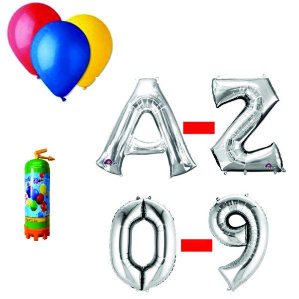5 Pachet baloane argintii eveniment