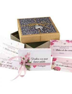 52 Motive Ești Cea Mai Bună Iubită, mesaje si cutii diverse modele, cadou iubita, multicolor