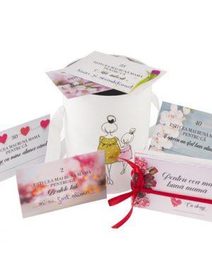 52 Motive Ești Cea Mai Bună Mamă, mesaje-cupon, diverse modele pentru cutii, cadou mama, multicolor