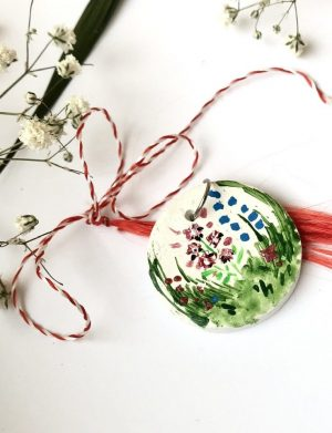 "Martisor Pictat Manual ""Floricele"", AHGL12777"