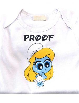 Tricou cu strumfi personalizat prin termotransfer pentru copil ACD10210