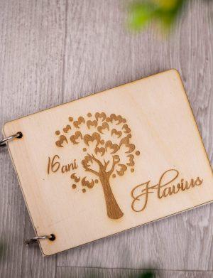 Carnet cu coperti din lemn, aniversare, OMIS1612