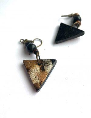 """Cercei triunghi """"Bronze"""", AHGL12817"""