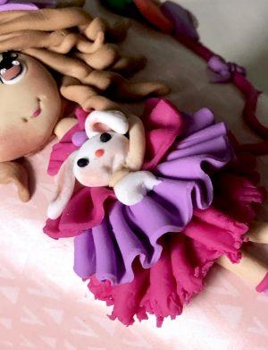 """Cana fimo """"Princess"""" 2, decorata manual, AHGL13208"""