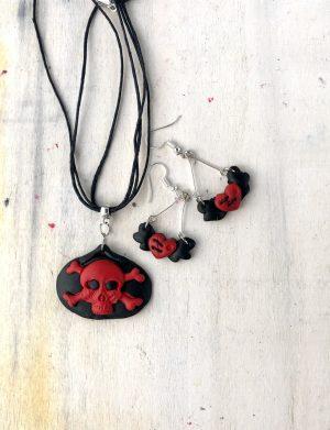 "Set Pandantiv+Cercei Handmade ""DarkHeart"", AHGL13314"