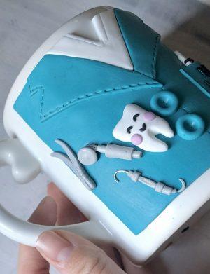 """Cana fimo  """"Dentist"""", decorata manual, AHGL13380"""