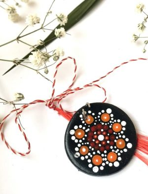 "Martisor Pictat Manual "" Mandala"" (4), AHGL12773"