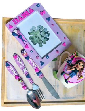 "Set fimo (cana si accesorii) "" TeenS"", decorata manual, AHGL13390"