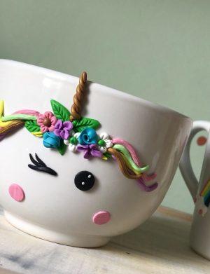"""Set fimo (cana si accesorii) """"Unicorn"""" (2), decorata manual, AHGL13216"""