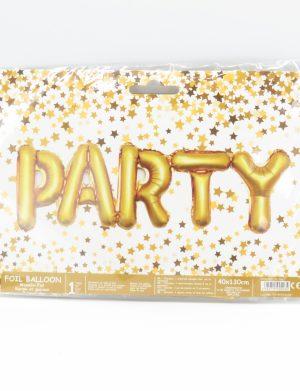 Baloane din folie PARTY, auriu – ILIF1926
