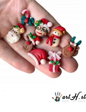"""Cercei din fimo pentru Craciun """"ChristmasParty"""", AHGL13374"""