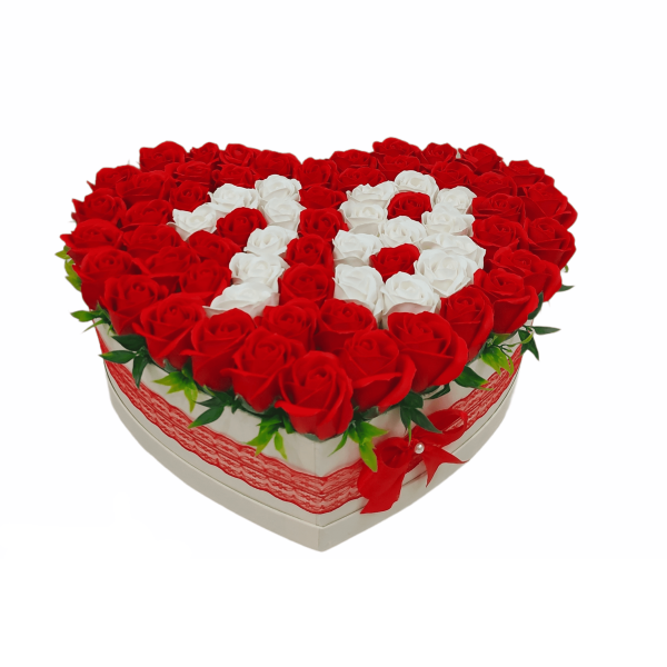 Cadou 18 ani trandafiri de sapun rosii si albi 23h Events