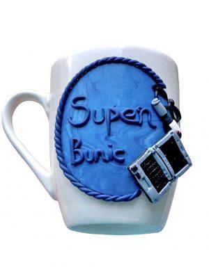 """Cana fimo """" Super Bunic"""", decorata manual, AHGL13000"""