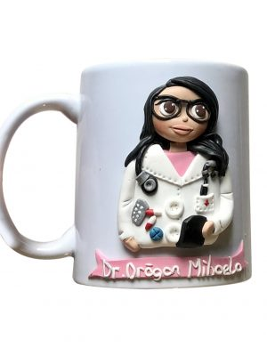 "Cana fimo ""Super Doctor"", decorata manual, AHGL12992"