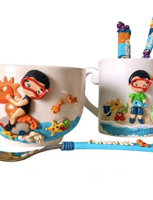 "Set fimo (cana si accesorii) ""BeachDay"", decorata manual, AHGL13231"