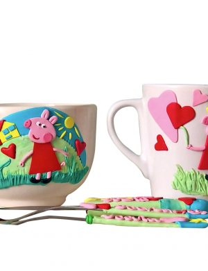 "Set fimo (cana si accesorii) ""Peppa"", decorata manual, AHGL13221"