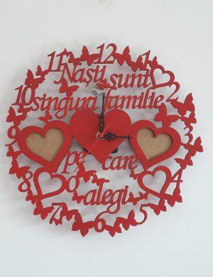 Ceas personalizat, Nasii sunt singura familie pe care o alegi, 40 cm diametru – FEIS1626