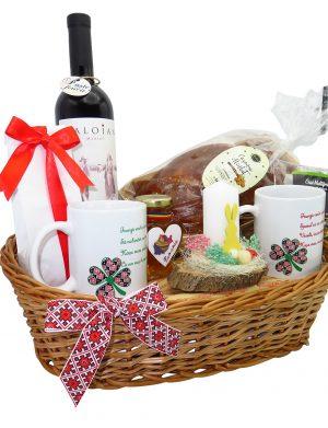 Cos cadou Paste, Multumire Nasi Traditional PRO, 8 piese, produse naturale, ILIF1411