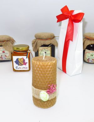 Cos cadou traditional Paste, Dulce Absolut, 7 piese, produse naturale, ILIF146
