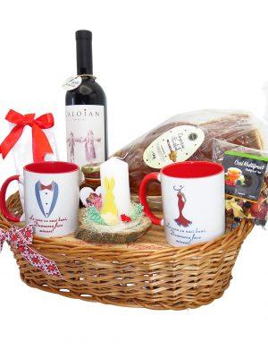 Cos cadou traditional Paste, Multumire Nasi PRO, 8 piese, produse naturale, ILIF1412