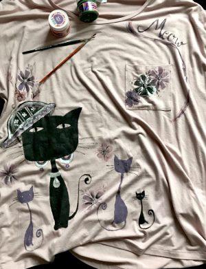 """Tricou  """"Pisica neagra"""", AHGL1212"""