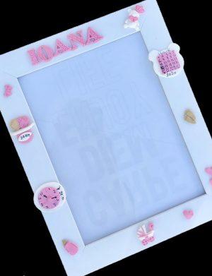 Rama foto personalizata pentru nou nascuti -Fete, AHGL13282