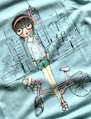 """Tricou """"Fata pe bicicleta 2"""", AHGL1213"""