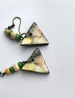 """Cercei triunghi """"Yellow"""", AHGL12818"""