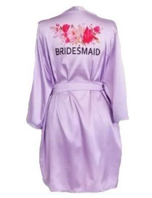 Halat satinat lila, Bridesmaid – ACD182