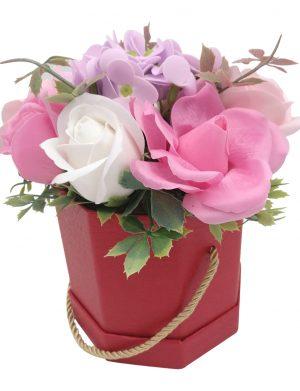 Aranjament cu 9 flori de sapun, ILIF1421