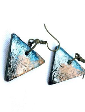Cercei Triunghi Albastru