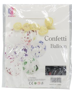 Baloane Cu Confeti, 5buc/set, Argintiu – ILIF1912
