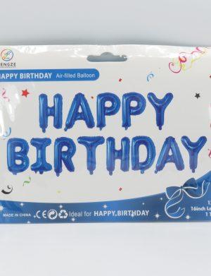 Baloane Folie Happy Birthday, Bleu – ILIF194
