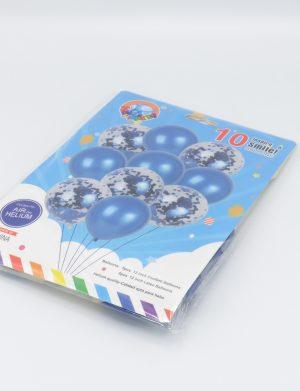 Baloane Cu Confeti Sclipici, 10buc/set, Albastru – ILIF198